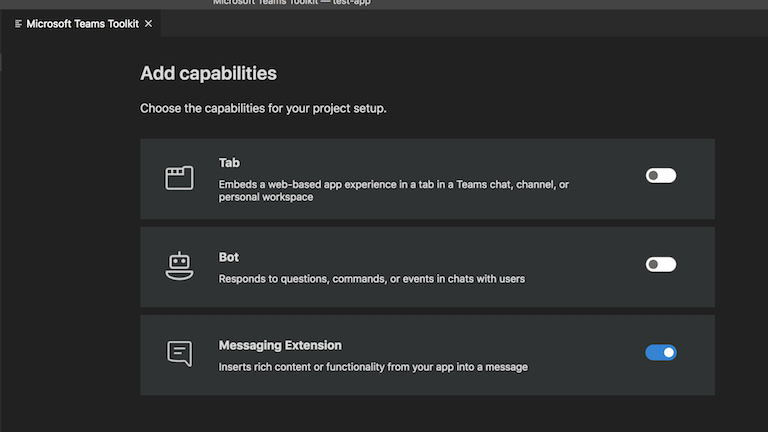 Messaging extension using Microsoft Teams Toolkit - Rabia Williams